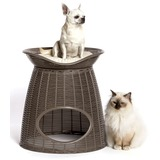 BAMA PET домик для кошек PASHA 52х60х46/55h см, с подушечками, коричневый