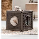 BAMA PET домик для кошек QUBLO 35x35x35h см, бежевый