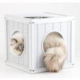BAMA PET домик для кошек QUBLO 35x35x35h см, белый