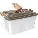 BAMA PET контейнер для хранения 5-8 кг корма SIM PET 18л 40x30x22h см, бежевый
