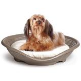 BAMA PET лежанка с подушкой PASHA 48х46х11h см, коричневый