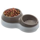 BAMA PET миска для собак двойная CIOTOLOTTO M 500-400 мл 33х20х9h см, коричневая