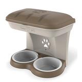 BAMA PET миска для собак настенная двойная 1600 мл 48х27х42h см, бежевая