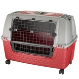 BAMA PET переноска в машину, с колесами, KENNEL TOUR EASY 88х52х60h см, красная