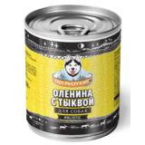 Погрызухин консерированный корм для собак Оленина с тыквой