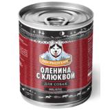 Погрызухин консерированный корм для собак Оленина с клюквой