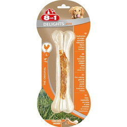 8 in 1 Delights Strong S косточка сверхпрочная с куриным мясом для мелких и средних собак 11 см