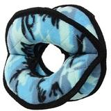 Tuffy Супер прочная игрушка для собак Мяч-кольцо четырехсторонний, голубой