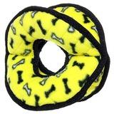 Tuffy Супер прочная игрушка для собак Мяч-кольцо четырехсторонний, желтый