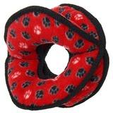 Tuffy супер прочная игрушка для собак Мяч-кольцо четырехсторонний, красный, прочность 9/10, Ultimate 4WayRing Red Paw