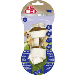 8 in 1 Delights Beef S косточка с говядиной для мелких и средних собак 11 см
