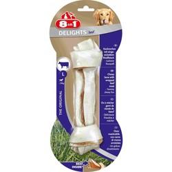 8 in 1 Delights Beef L косточка с говядиной для крупных собак 21 см