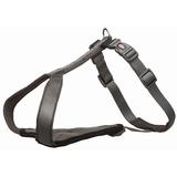 Trixie У-образная шлейка с мягкой подкладкой Premium Y-harness, цвет графитовый
