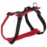 Trixie У-образная шлейка с мягкой подкладкой Comfort Soft, цвет черный с красным