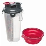 Trixie Контейнер для еды и воды, пластиковый, с силиконовой миской