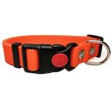 R-Dog Ошейник из мягкого биотана Гекса, пластиковая застежка с фиксатором, оранжевый неон