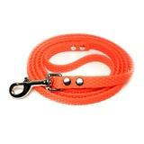 R-Dog Поводок из биотана Super Grip, усиленный стальной карабин, цвет оранжевый неон (для крупных и сильных собак)