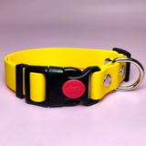 R-Dog Ошейник из биотана (Biothane USA), пластиковая застежка с фиксатором, цвет желтый