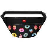 """WAUDOG Поясная сумка - бананка Waudog Textile для корма и аксеcсуаров, рисунок """"Пончики"""""""