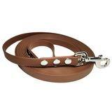 R-Dog Поводок из биотана, стальной карабин, цвет темно-коричневый