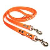 R-Dog Поводок-перестежка из мягкого биотана Гекса, усиленные стальные карабины, оранжевый неон