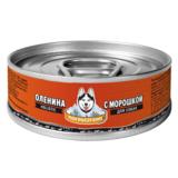 Погрызухин консерированный корм для собак Оленина с морошкой