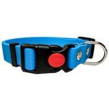 R-Dog Ошейник из мягкого биотана Гекса, пластиковая застежка с фиксатором, цвет голубой