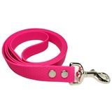 R-Dog Поводок из мягкого биотана Гекса, усиленный стальной карабин, цвет розовый