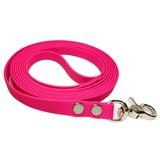 """R-Dog Поводок из мягкого биотана Гекса, стальной карабин """"клещи"""", цвет розовый"""