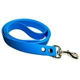 R-Dog Поводок из мягкого биотана Гекса, стальной карабин, цвет голубой