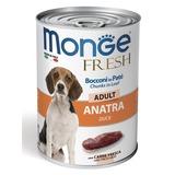 Monge Dog Fresh Chunks in Loaf консервы для собак мясной рулет из утки 400г
