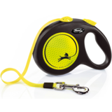 Flexi Neon New Classic L ременной поводок-рулетка 5 м для собак до 50 кг