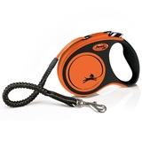Flexi рулетка с амортизатором Xtreme, 5 м для собак до 20 кг, цвет оранжевый
