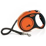 Flexi рулетка с амортизатором Xtreme, 5 м для собак до 35 кг, цвет оранжевый