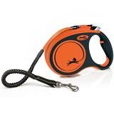 Flexi рулетка с амортизатором Xtreme, 5 м для собак до 65 кг, цвет оранжевый