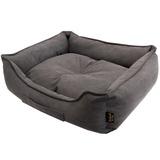 Pride Антивандальный лежак КЭМЕЛ, суперплотная ткань, цвет темно-серый