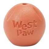 West Paw игрушка для собак мячик Zogoflex Rando, цвет оранжевый