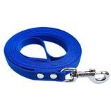 R-Dog прорезиненный нейлоновый поводок (с латексной нитью), усиленный стальной карабин, цвет синий