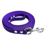 R-Dog прорезиненный нейлоновый поводок (с латексной нитью), усиленный стальной карабин, цвет фиолетовый