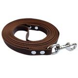 R-Dog прорезиненный нейлоновый поводок (с латексной нитью), усиленный стальной карабин, цвет коричневый
