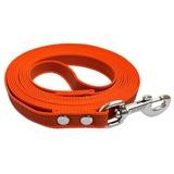 R-Dog прорезиненный нейлоновый поводок (с латексной нитью), усиленный стальной карабин, цвет оранжевый