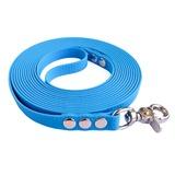 """R-Dog Поводок из мягкого биотана Гекса, стальной карабин """"клещи"""", цвет голубой"""