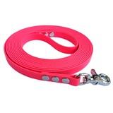 """R-Dog Поводок из биотана, стальной карабин """"клещи"""", цвет светло-розовый"""
