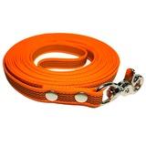 R-Dog прорезиненный нейлоновый поводок (с латексной нитью), стальной карабин клещи, цвет оранжевый