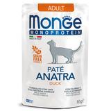 Monge Cat Monoprotein паучи для взрослых кошек из утки 85 г
