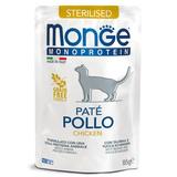 Monge Cat Monoprotein паучи для стерилизованных кошек из курицы 85 г