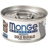 Monge Cat Monoprotein хлопья для кошек из мяса буйвола 80г