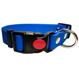 R-Dog Ошейник из мягкого биотана Гекса, пластиковая застежка с фиксатором, цвет синий