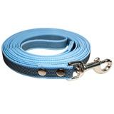 R-Dog прорезиненный нейлоновый поводок (с латексной нитью), усиленный стальной карабин, цвет голубой