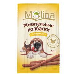 Жевательные колбаски для собак Molina «С курицей»